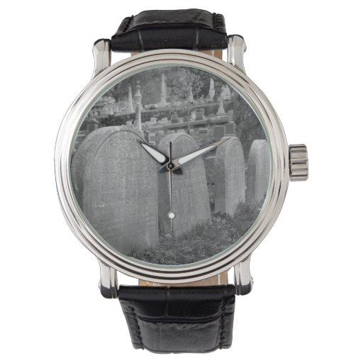 old headstones wristwatches