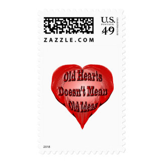 Old Heart Postage Stamp