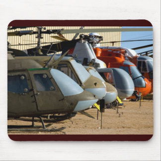 Old Helicopters Mouse Pad