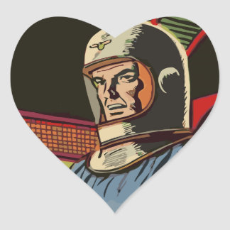 Old hero from the future heart sticker