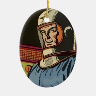 Old hero from the future ornament