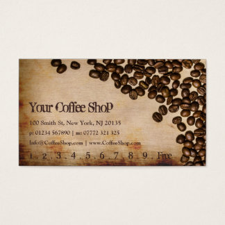 Old Hessian Coffee Bean Photo - Punch Card