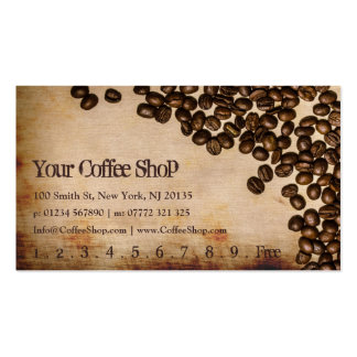 Old Hessian Coffee Bean Photo - Punch Card Double-Sided Standard Business Cards (Pack Of 100)