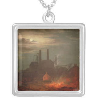 Old Hetton Colliery, Newcastle Silver Plated Necklace
