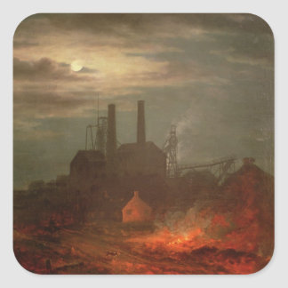 Old Hetton Colliery, Newcastle Square Stickers