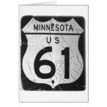 Old Highway 61 sign Cards