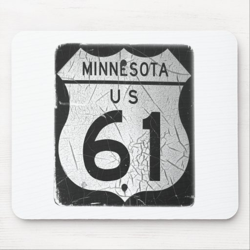Old Highway 61 sign Mouse Pad
