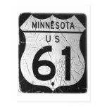 Old Highway 61 sign Post Card