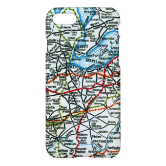 Old Highway Map Michigan and Ohio iPhone 7 Case