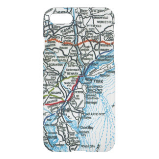 Old Highway Map New York City and Philadelphia iPhone 8/7 Case