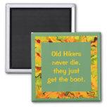 old hikers joke fridge magnets