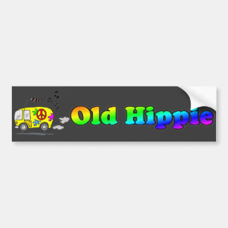 Old Hippie Bus Bumper Sticker Car Bumper Sticker