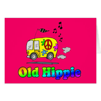 Old Hippie Bus Greeting Card