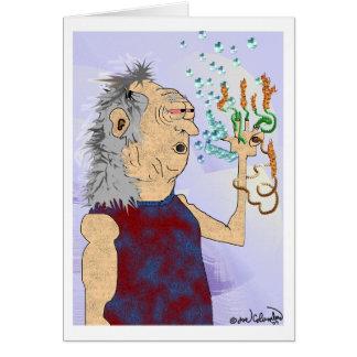 OLD HIPPIE DUDE  birthday card