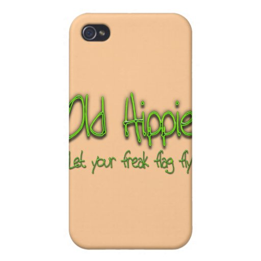 Old Hippie grn iPhone 4 Cases