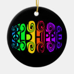 OLD HIPPIE ornament, customize