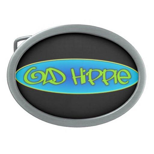 Old Hippie Oval Belt Buckle