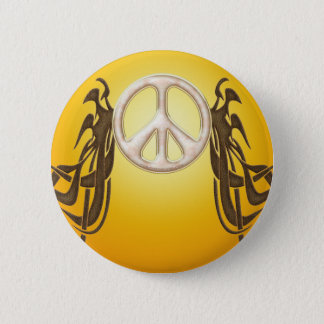 Old Hippie Peace Button