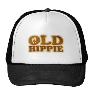Old Hippie Peace Sign Mesh Hat