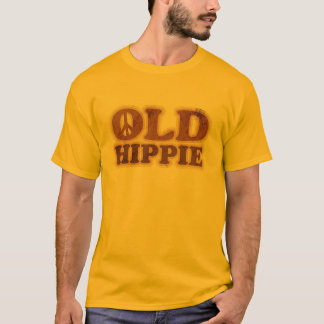 Old Hippie Peace Sign T-Shirt