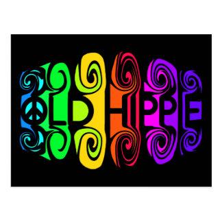 OLD HIPPIE postcard, customize