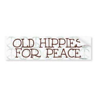 Old Hippies for Peace 2 Bumper Sticker