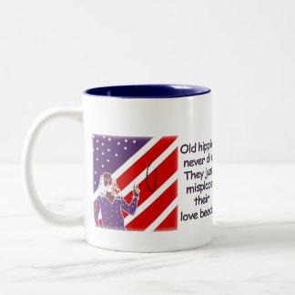 Old Hippies Never Die... Mug