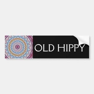 OLD HIPPY CAR BUMPER STICKER