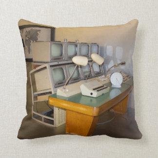 old historic tv studio throw pillow