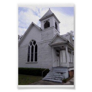 Old Historical White Church White Springs Florida Posters