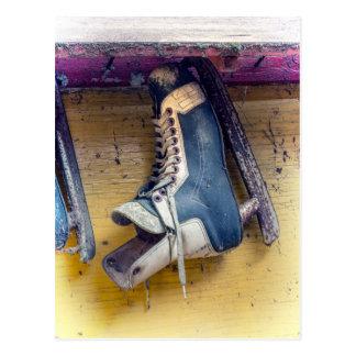 Old hockey skate postcard