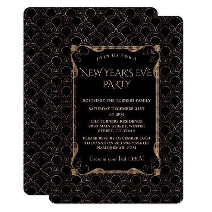 Great Gatsby New Year Party Invitation