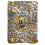 Old Hollywood Chic Elegant Monogram iPad Air Cover