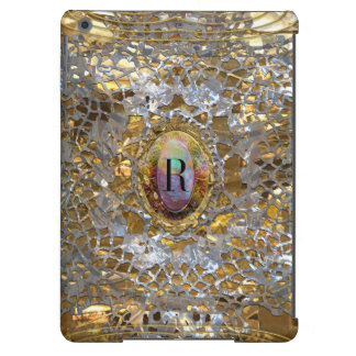 Old Hollywood Chic Elegant Monogram iPad Air Cover