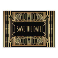 Old Hollywood Gatsby Style Wedding Save the Date Card
