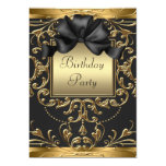Old Hollywood Glamour Art Deco Birthday Party Card