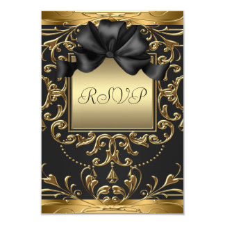 Old Hollywood Glamour Art Deco Birthday Party RSVP Card