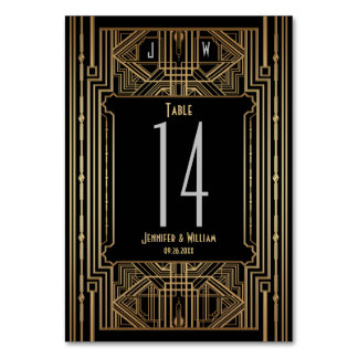 Old Hollywood Great Gatsby Style Wedding Card