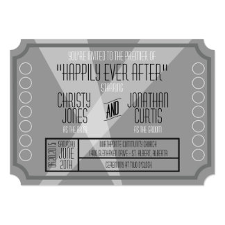 Old Hollywood Ticket Style Invitation