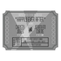 Old Hollywood Ticket Style Invitation Announcement (<em>$2.15</em>)