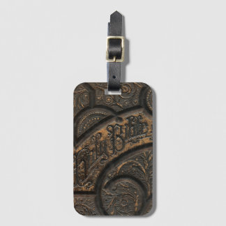 Old holy bible luggage tag