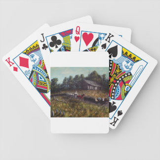 Old Home New Family Bicycle Playing Cards