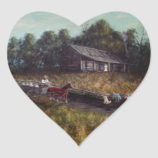 Old Home New Family Heart Sticker
