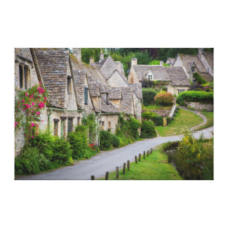 Old homes built for the local weavers canvas print