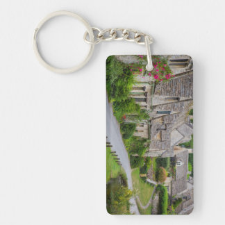 Old homes built for the local weavers Double-Sided rectangular acrylic keychain