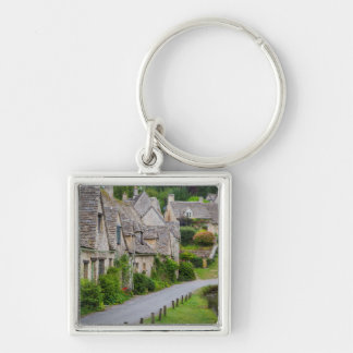 Old homes built for the local weavers Silver-Colored square keychain