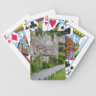 Old homes built for the local weavers bicycle playing cards
