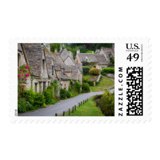 Old homes built for the local weavers postage stamp