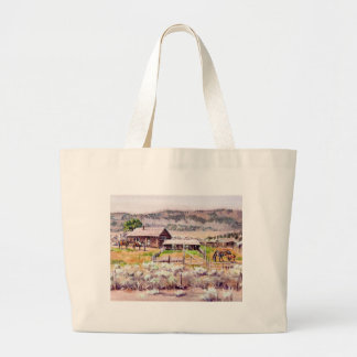 OLD HOMESTEAD by SHARON SHARPE Large Tote Bag