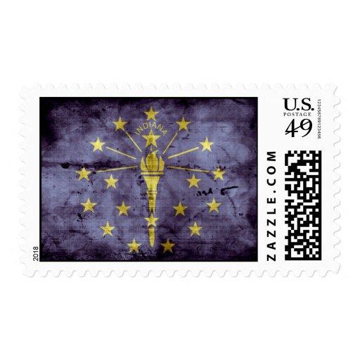 Old Hoosier Flag; Postage Stamp